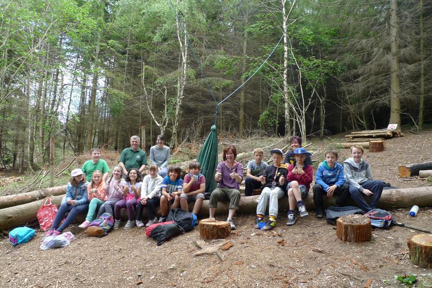 At Fingle Woods enjoying John Muir award