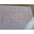 Ethan's writing