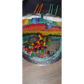The birthday cake that Ethan made for his sister
