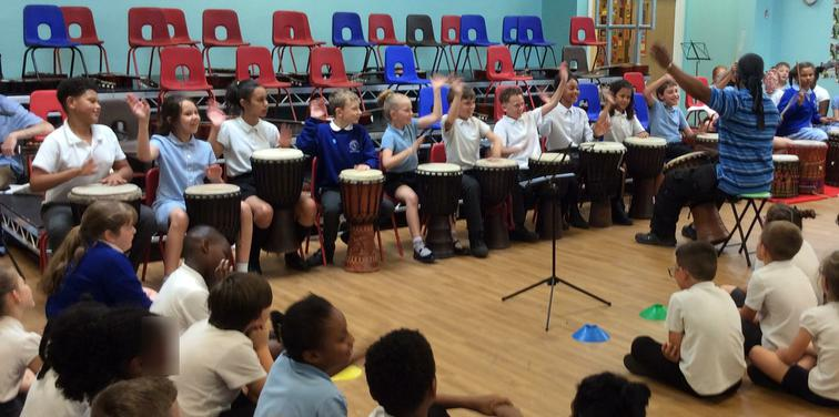 African drummers showcasing their talents.
