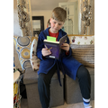Connor reading Harry Potter