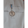 A medal designed by Ethan