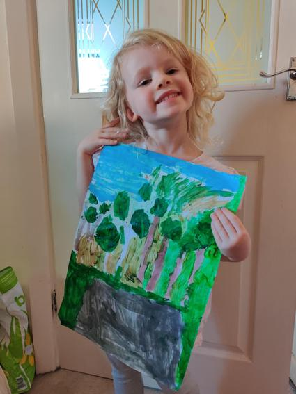 Quinn painted the view from her bedroom window.