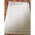 A sample of Adam's maths work