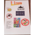 Liam's 'All About Me' poster