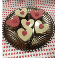 Rice Crispy Heart Cupcakes
