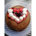 Birthday cake for Valentine girl!