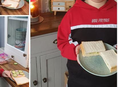 Step by step sandwich making