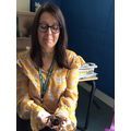 Miss Stevens wasn't sure about the tarantula!