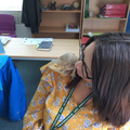 Miss Stevens with a new friend!