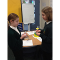 Enjoying a fun 'Question and Swap' activity.