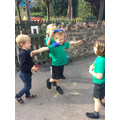 In Mill Class we work together to learn new skills.
