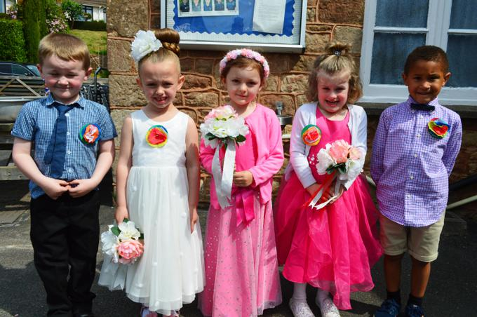The bridesmaids and pageboys were brilliant!