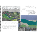 Learning Journal page - finished landscape collages inspired by locality