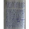 Seb's amazing piece of writing . Well Done Seb!