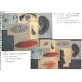 Art learning journal page - large-scale, collaborative Cubist portrait