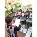 We read our letters to the chairs in the hope they'd forgive us!