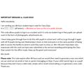 Message re. Class Dojo code