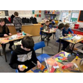 Art lesson on collage & mixed media