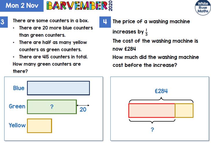 Y5 & 6 Bar Model Problems 1