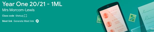 1ML Classroom Code - 6hetuzj