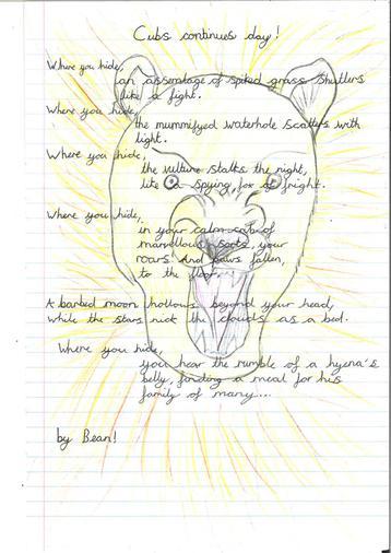 Poetry year 5 - Leona