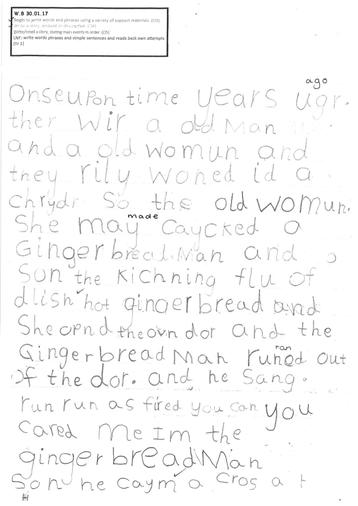 Story Year 1 - page 1 - Tabitha