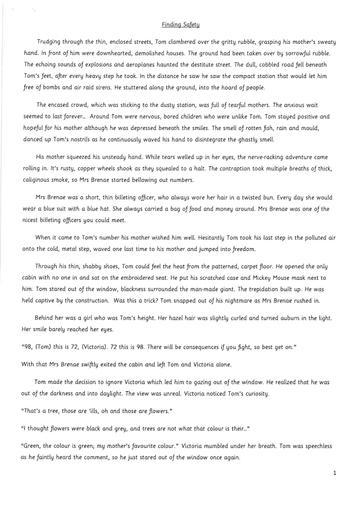 Story year 6 - Carys page 1
