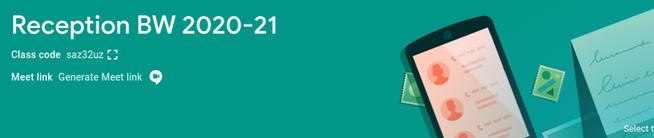 RBW Classroom Code -  saz32uz