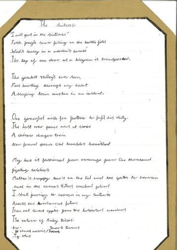 Poetry year 6 - Jacob