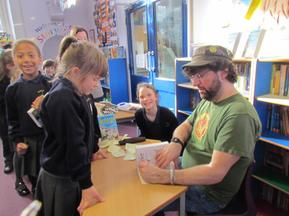 Andy Stanton visit for the whole school 4