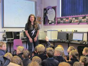 Author visit for Year 3 and 4 - Rachel Delahaye 1