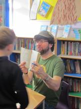 Andy Stanton visit for the whole school 3