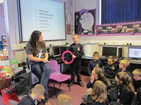 Author visit for Year 3 and 4 - Rachel Delahaye 3