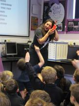 Author visit for Year 3 and 4 - Rachel Delahaye 2