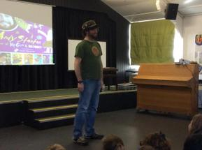 Andy Stanton visit for the whole school 1