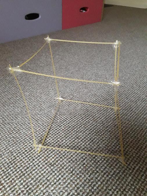 Maya's 3D spaghetti shape.