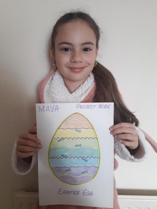 A beautiful NHS, rainbow egg.