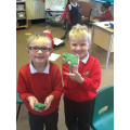 We made playdough dinosaurs.