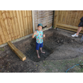 Can you guess why Buddy has dug a hole?
