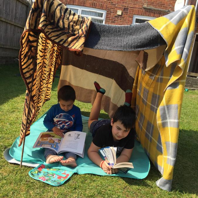 What a great reading den!