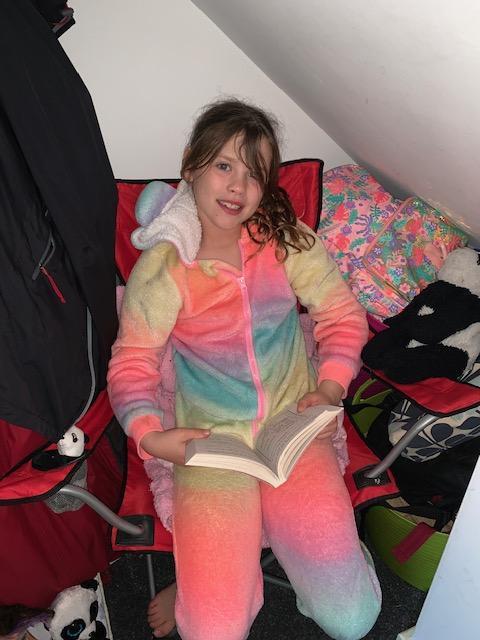 A very cosy reading den.