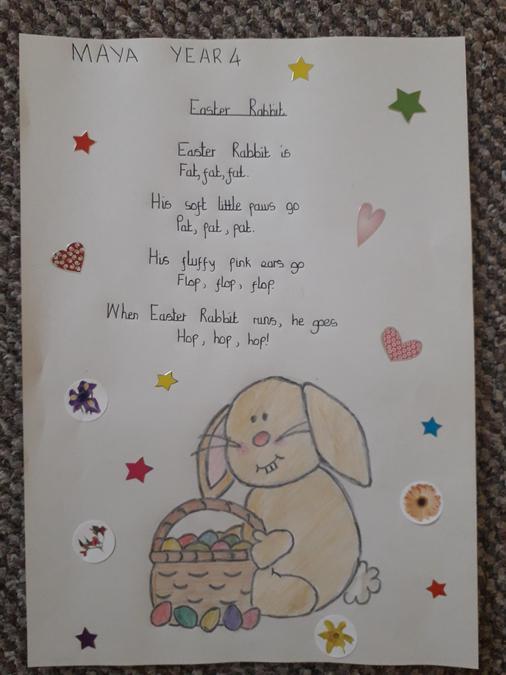 Maya's rhyming Easter poem.