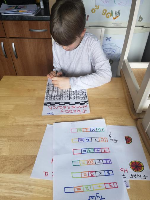 A home made word search. What a great idea!
