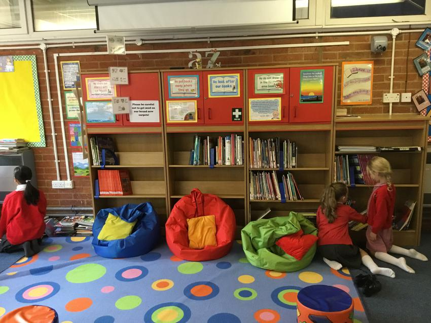 We like to keep our library cosy!