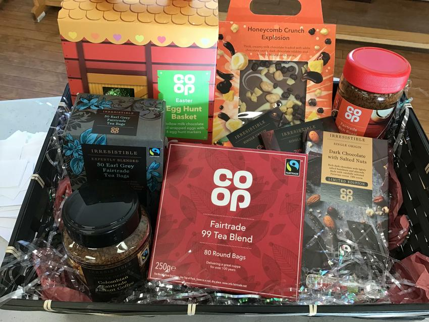 FT Hamper donated by the Co-Op store in Norton!