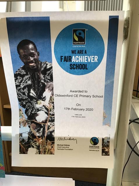 Our Fairtrade Award certificate!