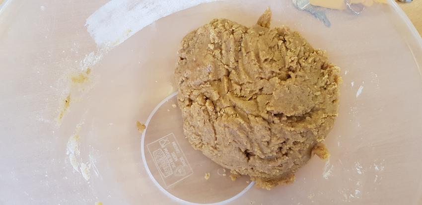 Forming a dough!