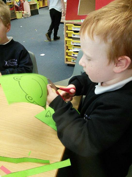 We made frogs.
