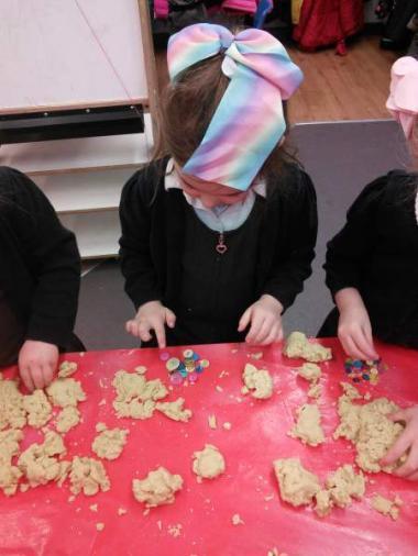 Using play dough